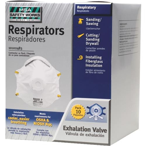 SAFETY WORKS INCOM MSA Safety Works Disposable Dust Respirator