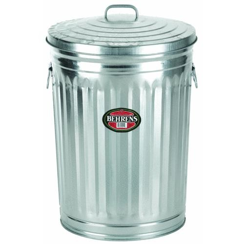 Behrens Behrens Galvanized Garbage Trash Can