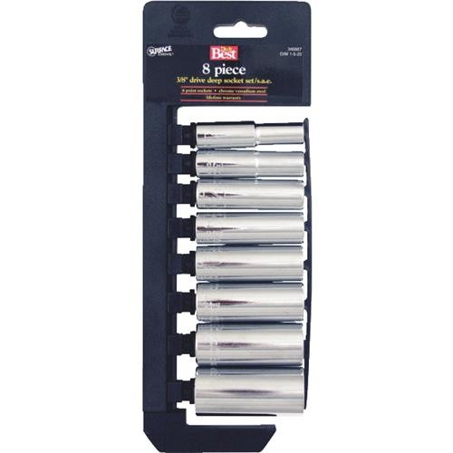 Channellock Products Channellock 8-Piece 3/8 In. Drive Deep Socket Set