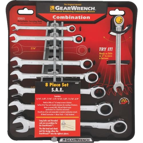 Channellock Products Channellock 8-Piece Ratcheting Combination Wrench Set