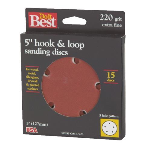 Ali Ind. Do it Best 5-Hole Hook & Loop Vented Sanding Disc