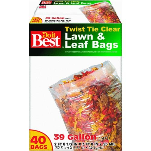 Presto Products Do it Best Clear Lawn & Leaf Bag