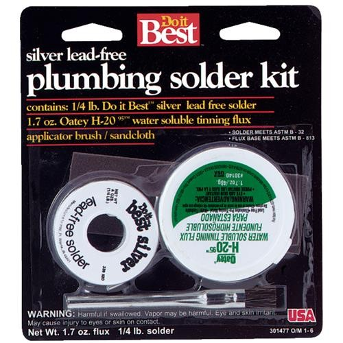 Oatey Do it Best H-2095 Water Soluble Lead-free Solder Kit