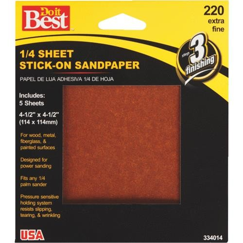 Ali Ind. Do it Best Stick-On 1/4 Sheet Sandpaper