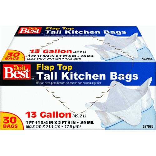 Presto Products Do it Best Tall Kitchen Flap Tie Trash Bag