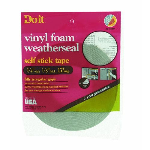Thermwell Products Co. Do it PVC Closed Cell Vinyl Foam Weatherstrip Tape