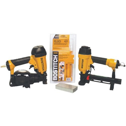 Stanley Bostitch Coil Roofing Nailer/Cap Stapler Combo Kit
