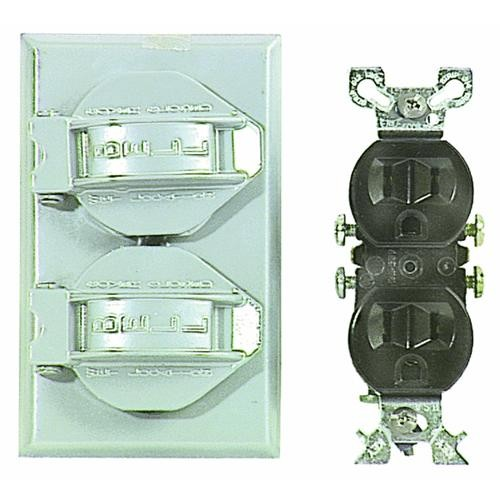 Hubbell Do it Weatherproof Electrical Cover & Receptacle Outdoor Outlet Kit