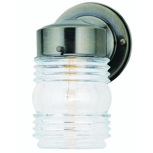 Canarm Imports Home Impressions Incandescent Jelly Jar Outdoor Wall Light Fixture