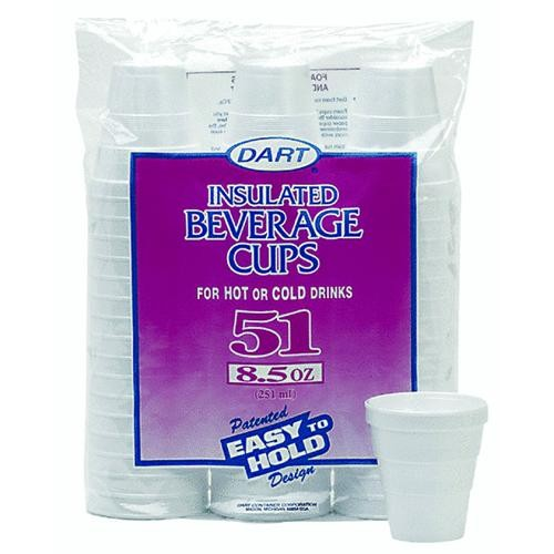 Dart Cont. Insulated Beverage Foam Cups