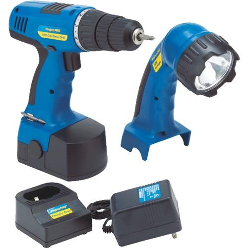 Do it Best Global Sourcing Project Pro 18V NiCd Drill and Work Light Cordless Tool Combo Kit
