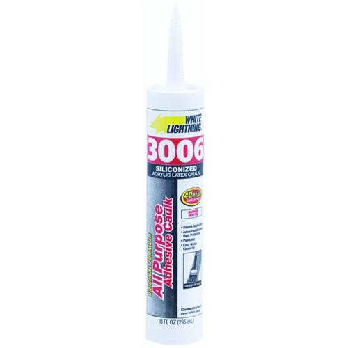 White Lightning Prod. White Lightning Acrylic Siliconized Latex Caulk