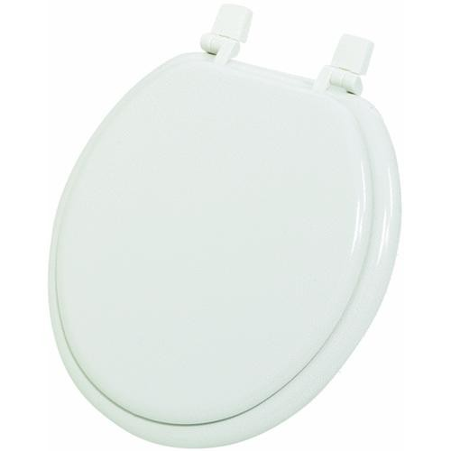 Do it Best Imports White Round Wood Toilet Seat
