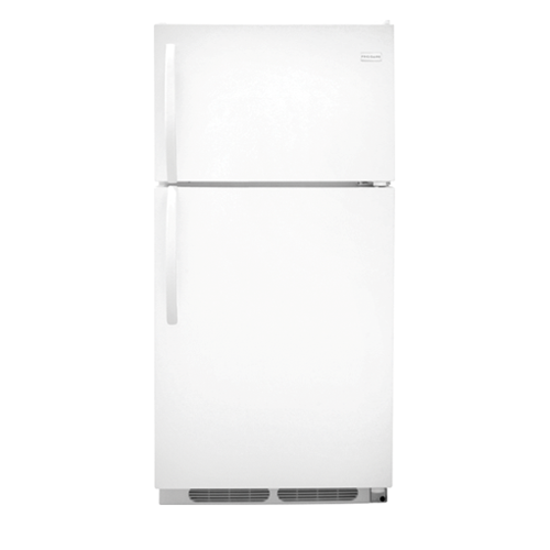 Frigidaire 15 C/F Refrigerator with Top Freezer, Energy Star, Wire Shelves, No Ice Maker, ADA Compliant, FFTR1514QW, White