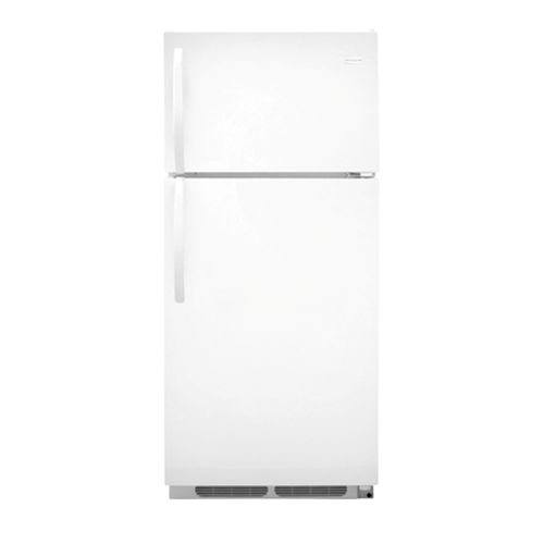 Frigidaire 16 C/F Refrigerator with Top Freezer,  Wire Shelves, No Ice Maker, ADA Compliant, FFTR1614RW, White