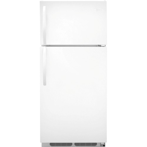 Frigidaire 16 C/F Refrigerator with Top Freezer, Energy Star, Glass Shelves, No Ice Maker, ADA Compliant, FFHT1621QW, White