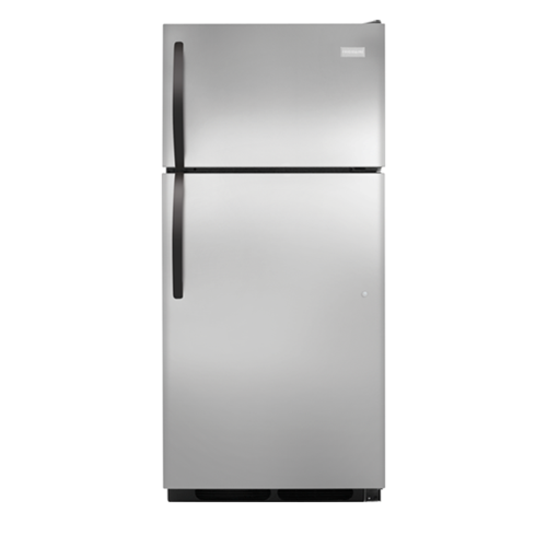 Frigidaire 16 C/F Refrigerator with Top Freezer, Energy Star, Glass Shelves, No Ice Maker, ADA Compliant, FFHT1621QS, Stainless Steel