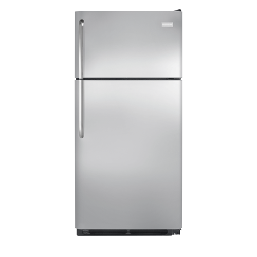 Frigidaire 18 C/F Gallery Refrigerator with Top Freezer, Energy Star, Glass Shelves, No Ice Maker, ADA Compliant, FFHT Series, Stainless Steel