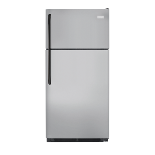 Frigidaire 18 C/F Gallery Refrigerator with Top Freezer, Energy Star, Glass Shelves, No Ice Maker, ADA Compliant, FFHT1831QM, Silver Mist
