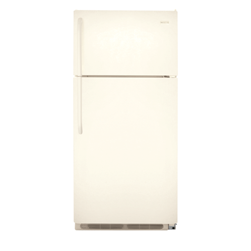 Frigidaire 18 C/F Gallery Refrigerator with Top Freezer, Energy Star, Glass Shelves, No Ice Maker, ADA Compliant, FFHT1831QQ , Bisque