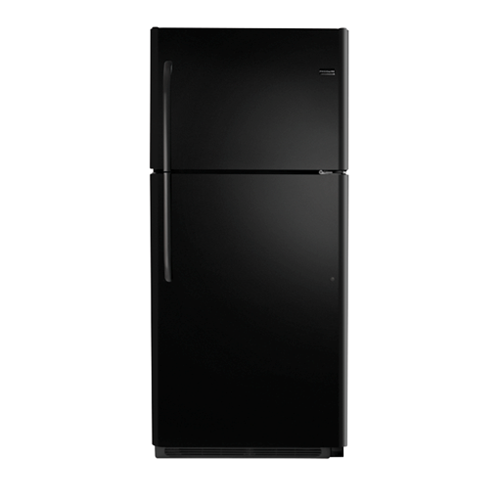 Frigidaire 21 C/F Refrigerator with Top Freezer,  Energy Star, Glass Shelves, No Ice Maker, FFHT2131QE, Black