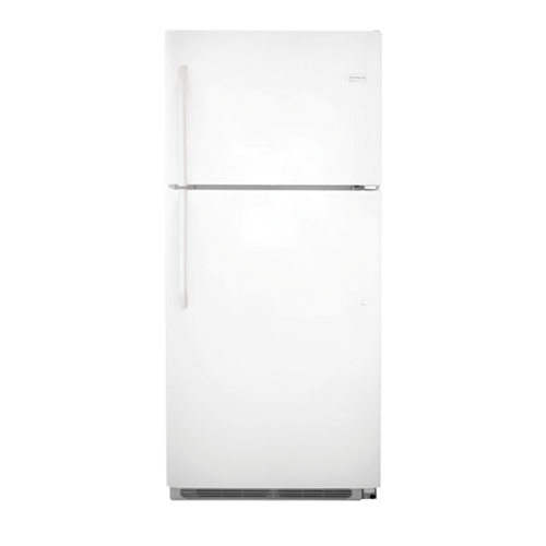 Frigidaire 21 C/F Refrigerator with Top Freezer,  Energy Star, Glass Shelves, No Ice Maker, FFHT2131QP, White