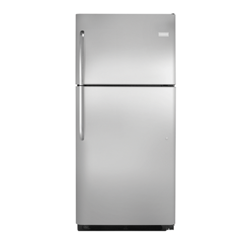 Frigidaire 21 C/F Refrigerator with Top Freezer,  Energy Star, Glass Shelves, No Ice Maker, FFHT2131QS, Stainless Steel