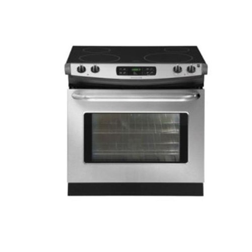 "Frigidaire 30"" Drop-In Electric Range Smoothtop, Large Capacity, Self Clean, ADA Compliant, FFED3025, Stainless Steel"