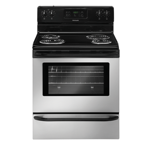 "Frigidaire 30"" Freestanding Electric Range Coil Burner, Window, Self Clean, FFEF3015, Stainless Steel"