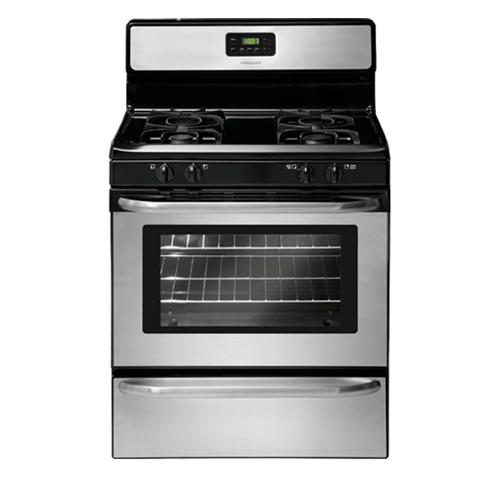 "Frigidaire 30"" Freestanding Gas Range, ADA Compliant, Clock, Window, Electric Ignition,  FFGF3047LS, Stainless Steel"