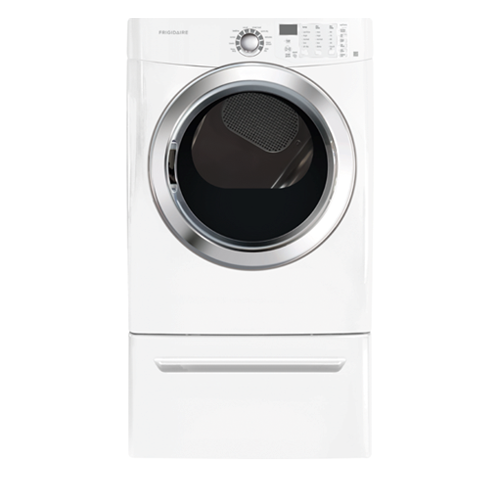 Frigidaire 7.0 C/F Electric Dryer featuring Ready Steam, FFSE5115PW, White