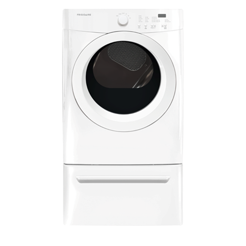 Frigidaire 7.0 C/F Electric Dryer, Front Load, FFQE5000QW, White