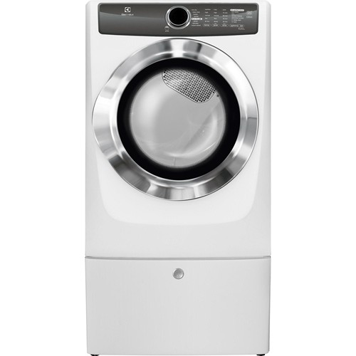 Electrolux Home Care Front Load Perfect Steam Electric Dryer w/ Instant Refresh & 8 cycles - 8.0 C/F, EFME517SIW, White