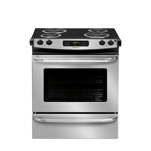"Frigidaire 30"" Drop-In Electric Range Coil Burners Window, Self Clean, ADA Compliant, FFES3015PS, Stainless Steel"