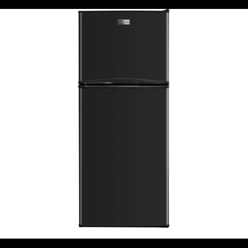Frigidaire 10 C/F Refrigerator with Top Freezer, Glass Shelves, No Ice Maker, ADA Compliant, FFTR1022 Series, Black