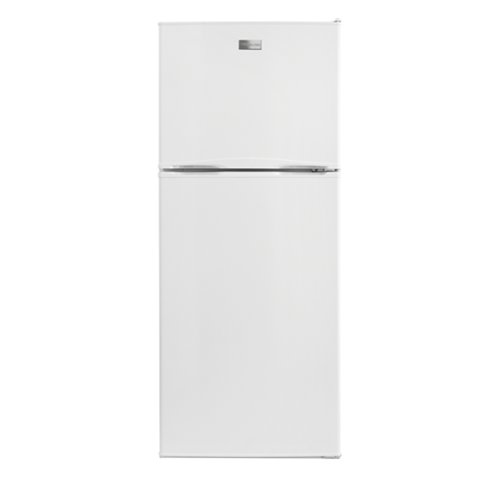 Frigidaire 10 C/F Refrigerator with Top Freezer, Glass Shelves, No Ice Maker, ADA Compliant, FFTR1022QW, White