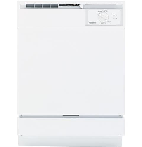 "Hotpoint 24"" Built In Dishwasher Standard Tub Design, 5 Cycles, HDA2100HWW, White"