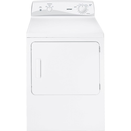 Hotpoint 6.0 C/F Electric Dryer, 3 Cycles, 3 Heat Selections Mechanical Controls, HTDX100EDWW, White