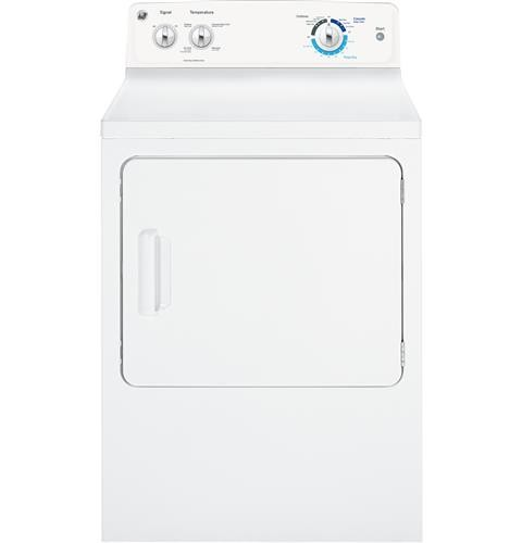 General Electric 6.0 C/F Gas Dryer with DuraDum, GTX18GSSJWW, White