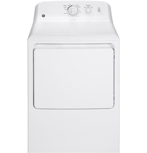 General Electric 6.2 C/F Gas Dryer, Aluminized Alloy Drum, 3 Cycles, GTX22GASKWW, White