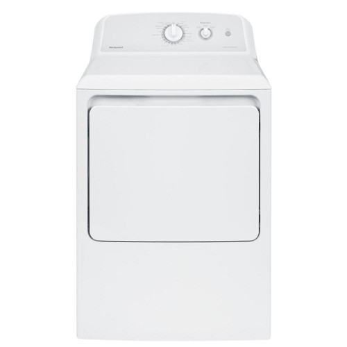 Hotpoint 6.2 C/F Electric Dryer, Aluminized Alloy Drum, 4 Cycles, HTX21EASKWW, White