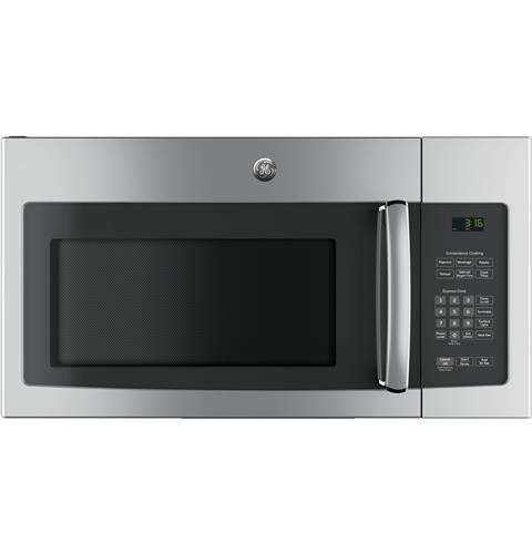 General Electric Microwave 1.6 C/F  Over-The-Range, 1000 Watts, 2 Speed, 300 CFM Vent, JNM3163RJSS, Stainless Steel