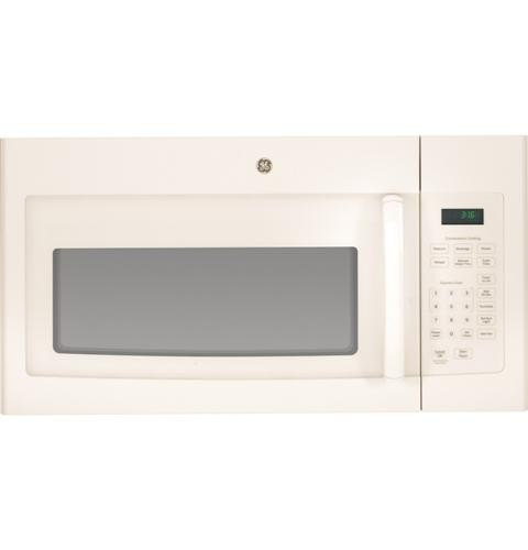 General Electric Microwave 1.6 C/F  Over-The-Range, 1000 Watts, 2 Speed, 300 CFM Vent, Convertible, JNM3163D Series, Bisque