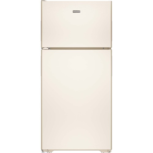 Hotpoint 15 C/F Refrigerator with Top Freezer, Wire Shelves, No Ice Maker, ADA Compliant, HPS15BTH Series, Bisque