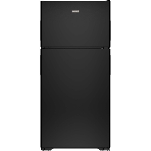 Hotpoint 15 C/F Refrigerator with Top Freezer, Wire Shelves, No Ice Maker, ADA Compliant, HPS15BTHBB, Black