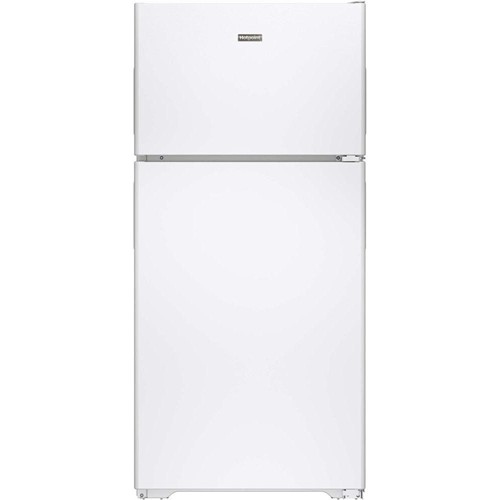Hotpoint 15 C/F Refrigerator with Top Freezer, Wire Shelves, No Ice Maker, ADA Compliant, HPS15BTHWW, White