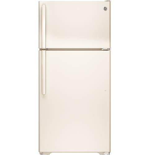 General Electric 15 C/F Refrigerator with Top Freezer, Wire Shelves, No Ice Maker, ADA Compliant, Energy Star, GTE15CTHRCC, Bisque