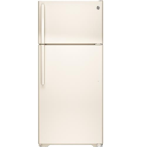 General Electric 16 C/F Refrigerator with Top Freezer, Wire Shelves, No Ice Maker, ADA Compliant, Energy Star, GTE16DTHCC, Bisque