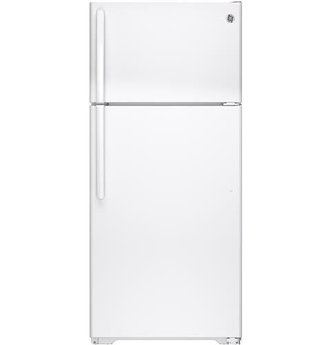General Electric 16 C/F Refrigerator with Top Freezer, Wire Shelves, No Ice Maker, ADA Compliant, Energy Star, GTE16DTHWW, White