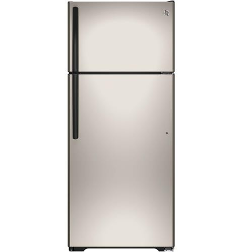 General Electric 18 C/F Refrigerator with Top Freezer, Wire  Shelves, No Ice Maker, Energy Star, GTE18CCHSA, Silver
